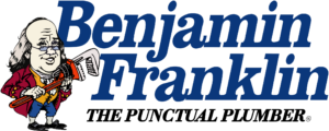 Benjamin Franklin Plumbing College Station logo for the punctual plumbing company in the Bryan College Station area.