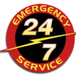 The emergency plumber College Station trusts is showing a sign that says 24/7 emergency plumbing in College Station, TX.